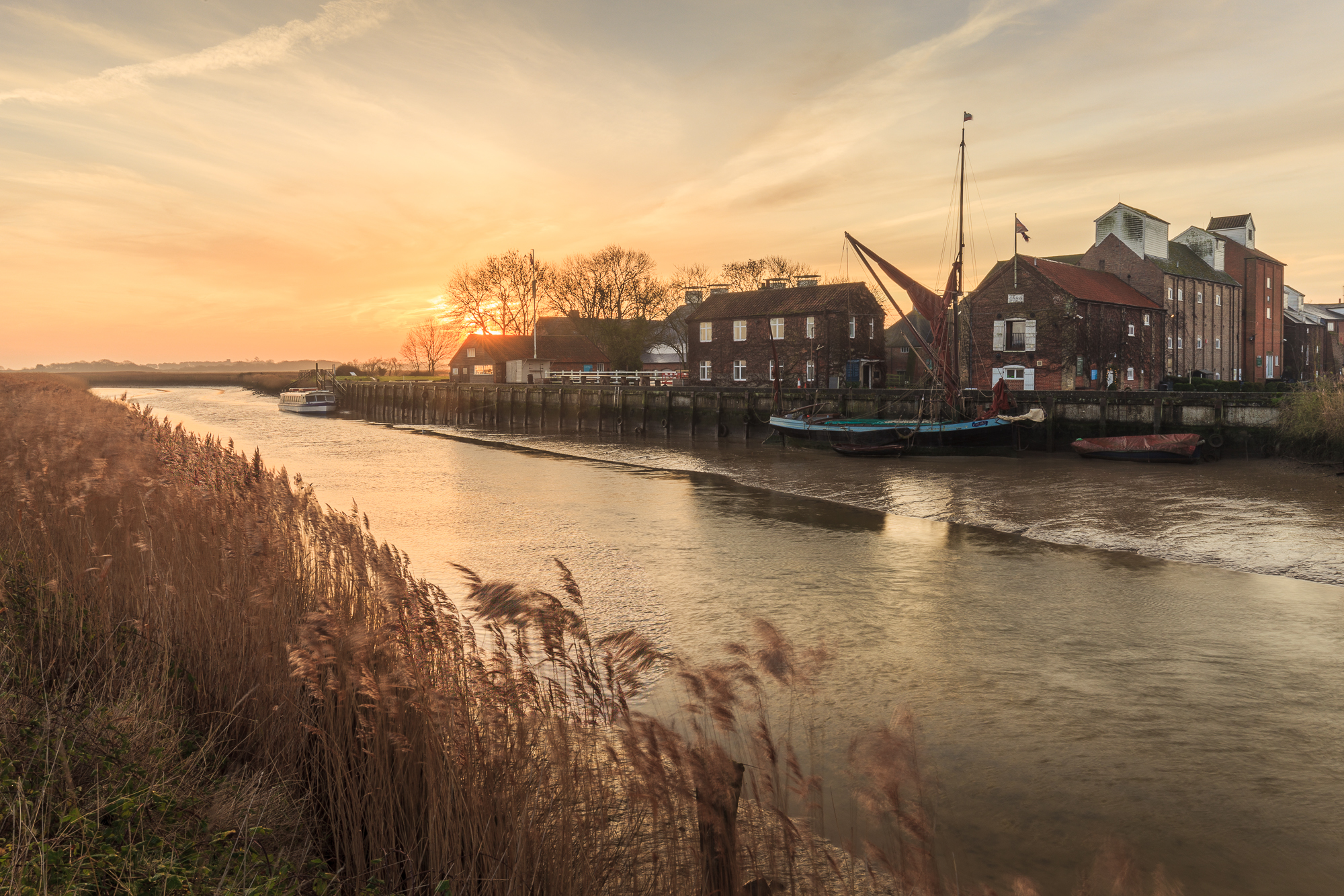 Snape Maltings is a familiar site on the banks of the River Alde
