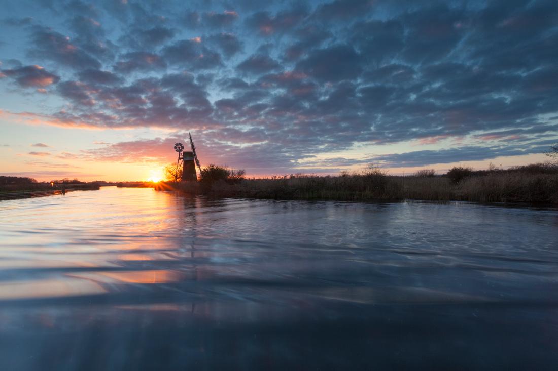 Sunset at Turf Fen, Norfolk