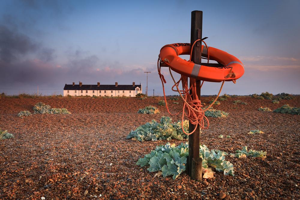 The coastguard cottages, Shingle Street, Suffolk