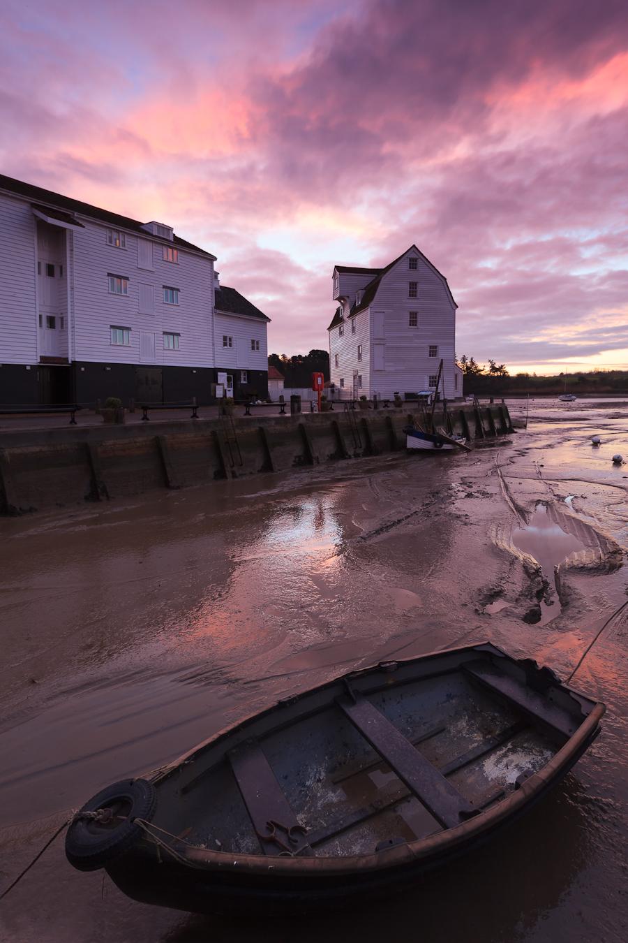 Woodbridge Tide mill, Suffolk at sunrise