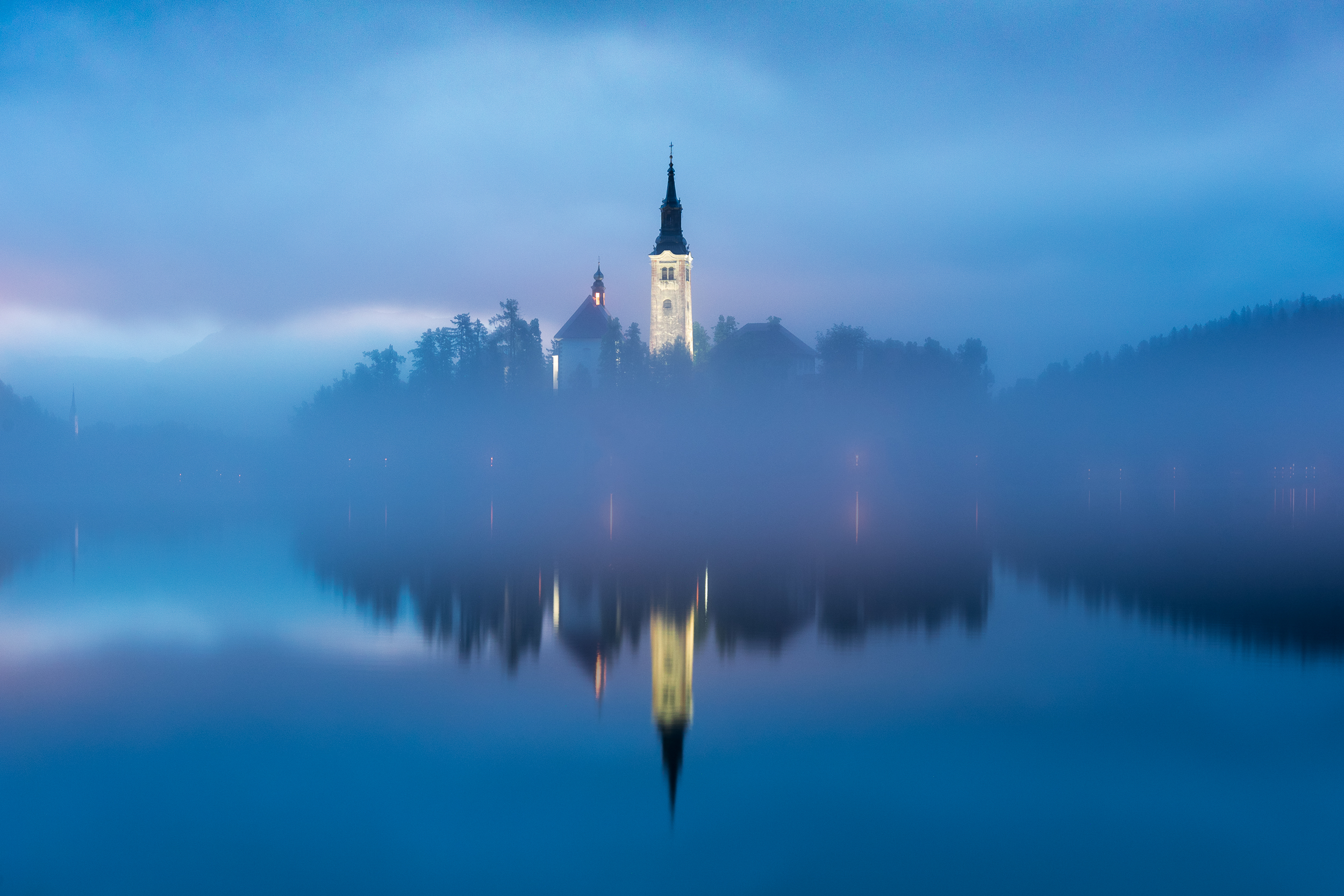Blue hour at Lake Bled, Slovenia