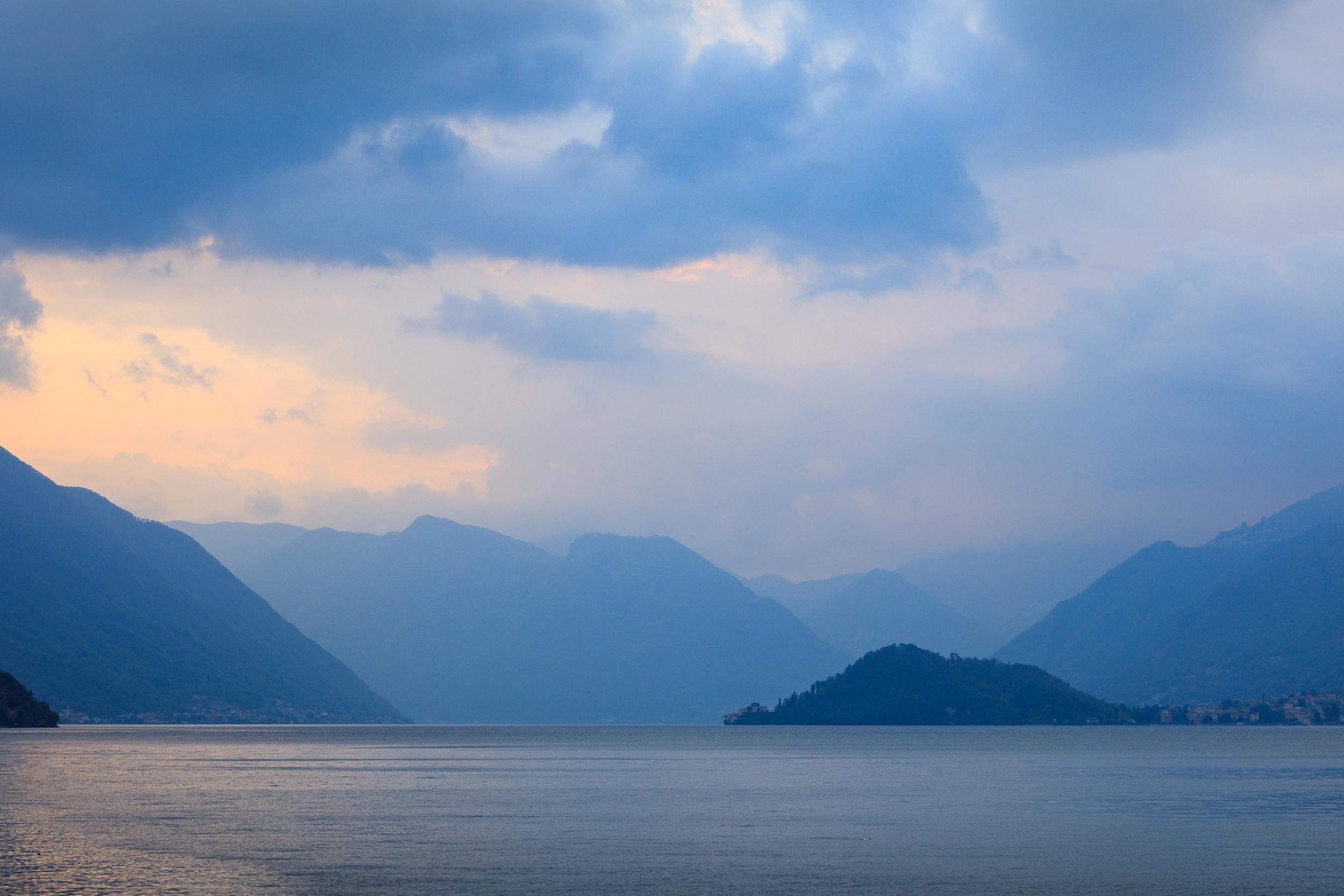 Sunset at Lake Como