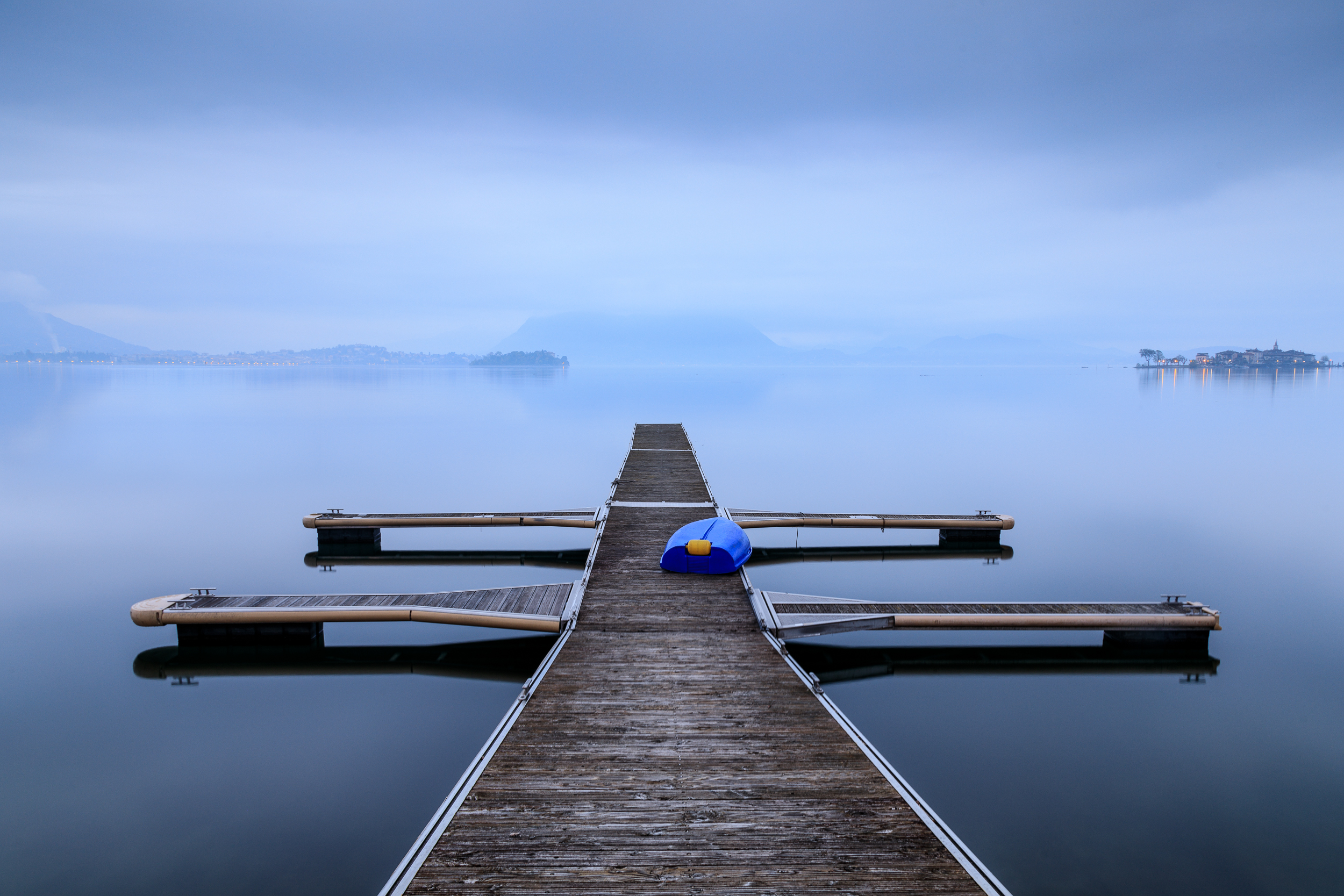 The blue boat, Lake Maggiore