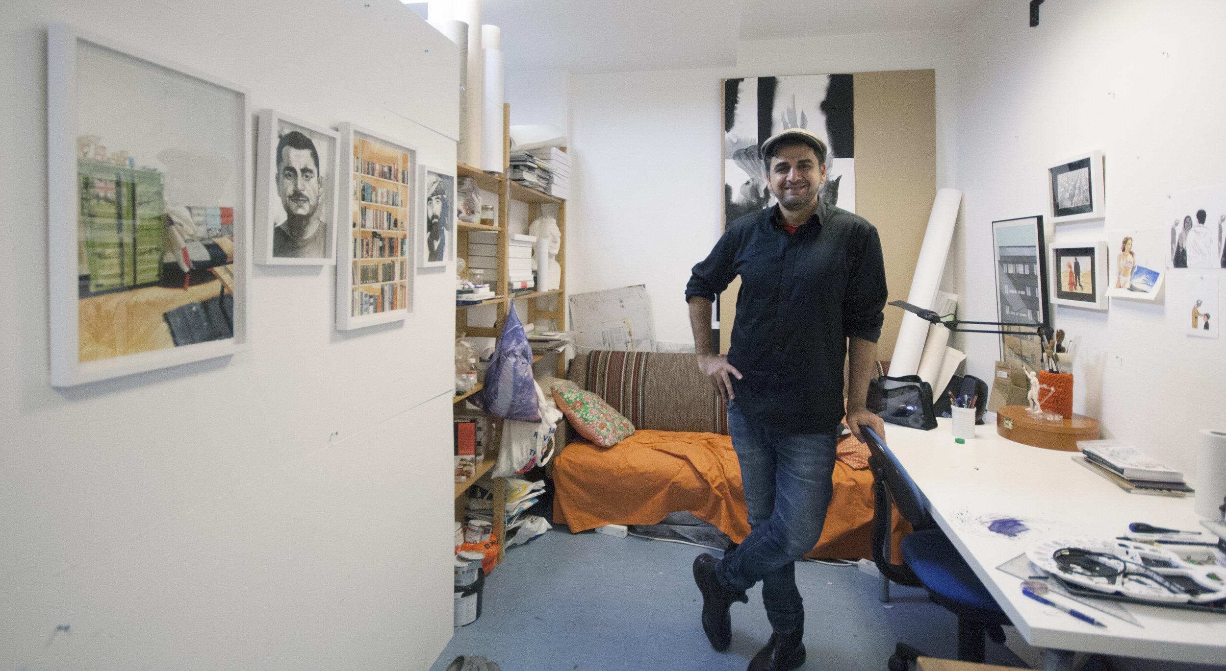 Swhan Dler Qaradaki, mixed media ©  Foto: Kari Tønseth / BONO