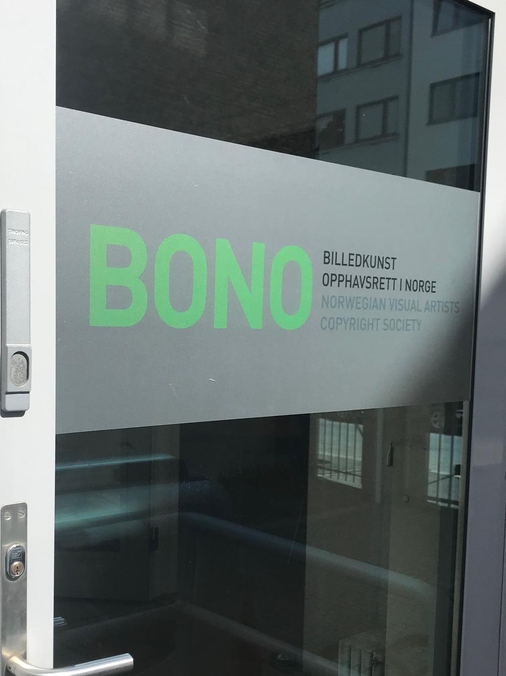 Inngangspartiet til BONOs nye lokaler