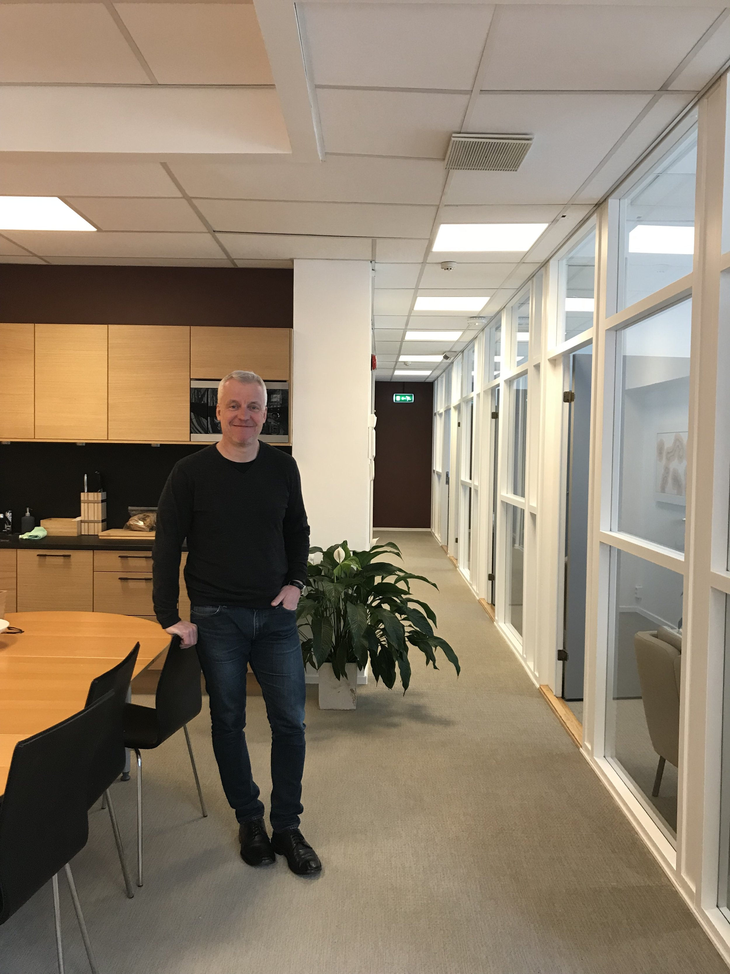 Daglig leder, Harald Holter i BONOs nye lokaler