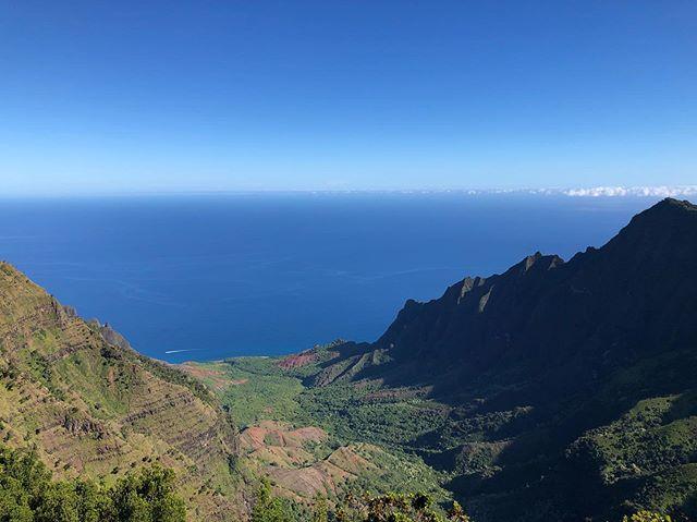 Great views on this morning's hike #kauai #waimeacanyon #puuokilalookout #napalicoast #nofilter