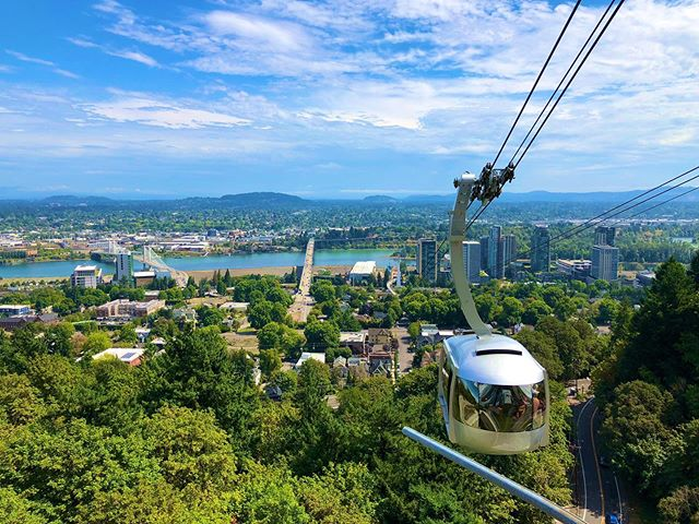 The Aerial Tram is a fun way to see Portland
