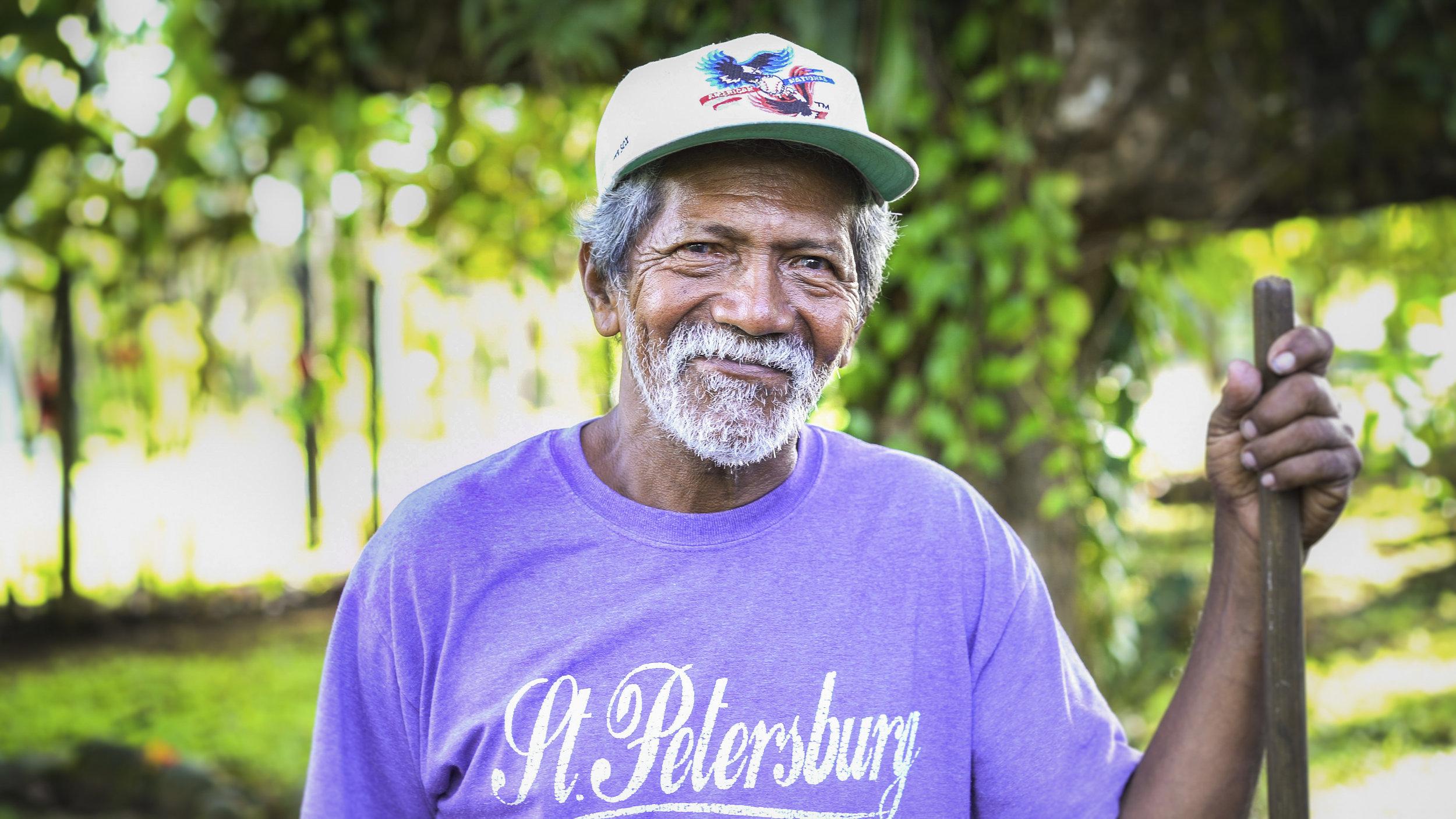 Costa Rican old man portrait
