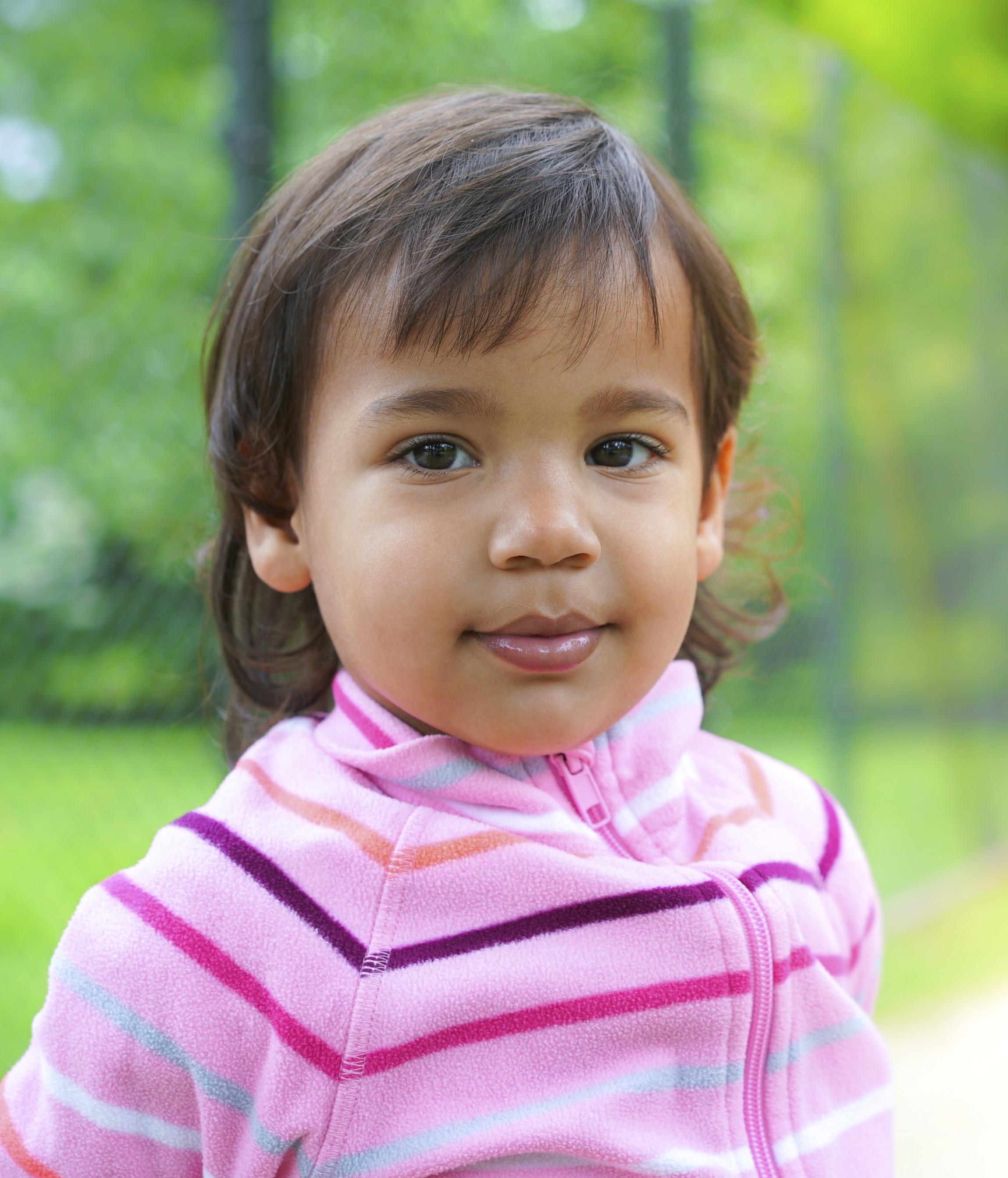 Moulatto child portrait