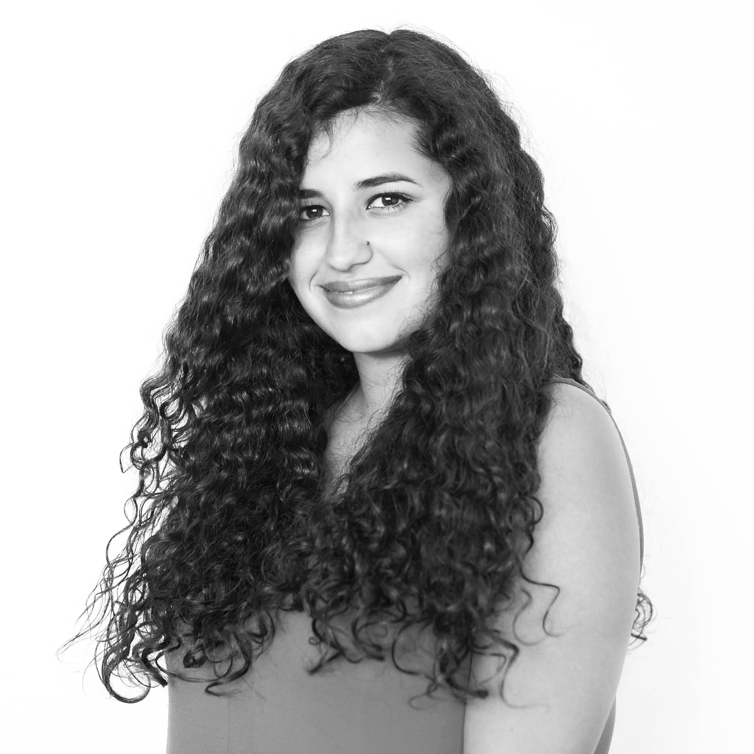 B&W brazilian girl portrait