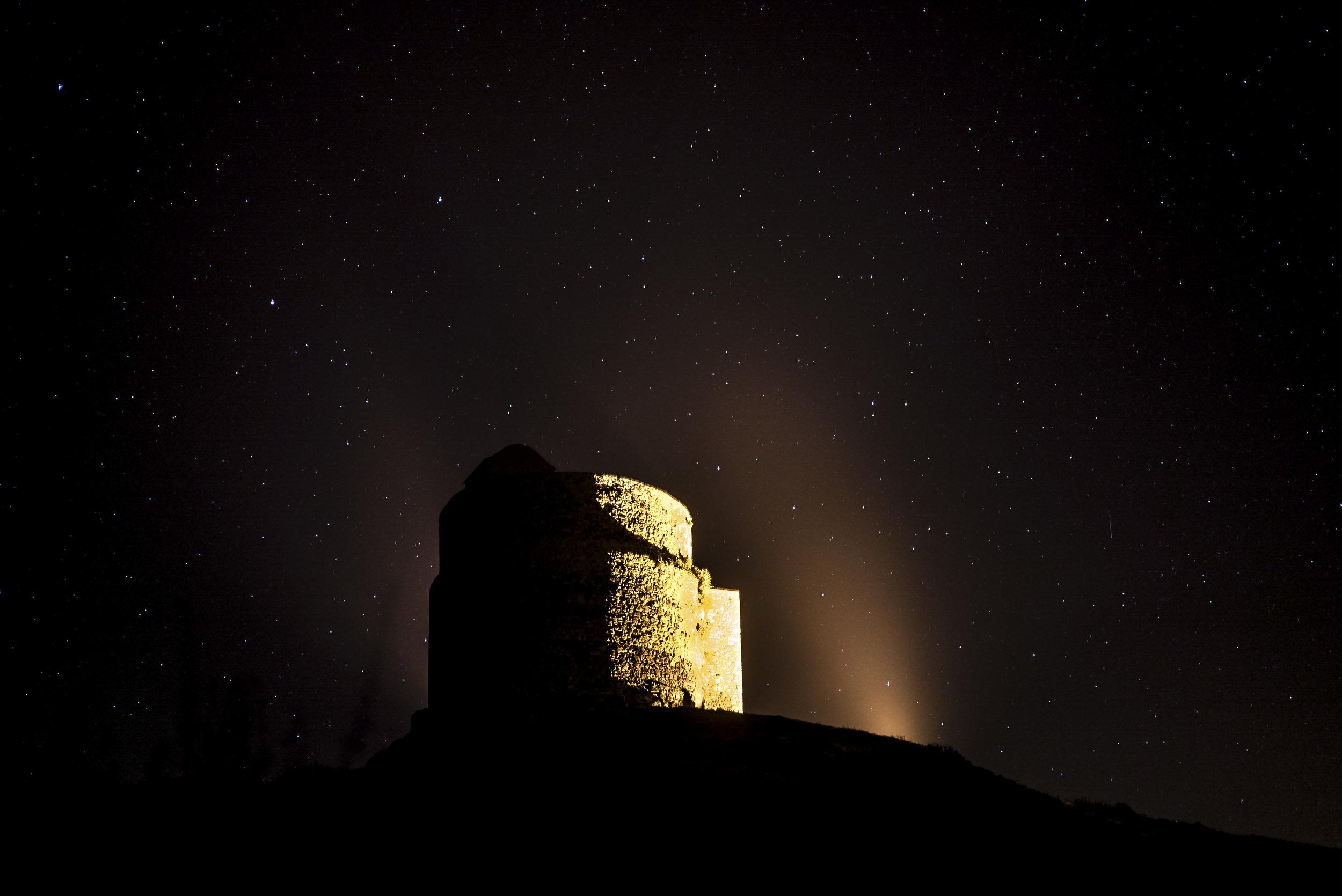 San Giovanni di Sinis tower at night - Sardinia