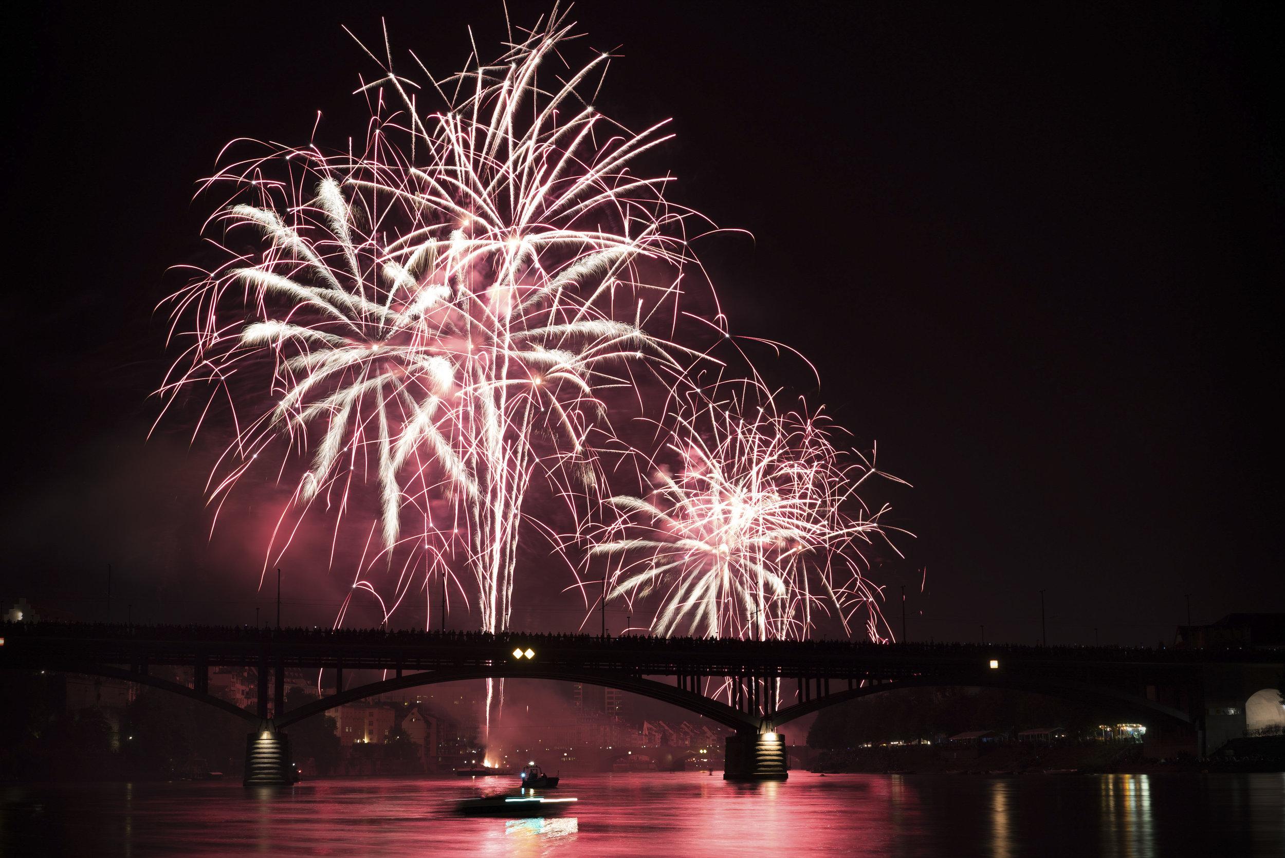Basel fireworks - Switzerland