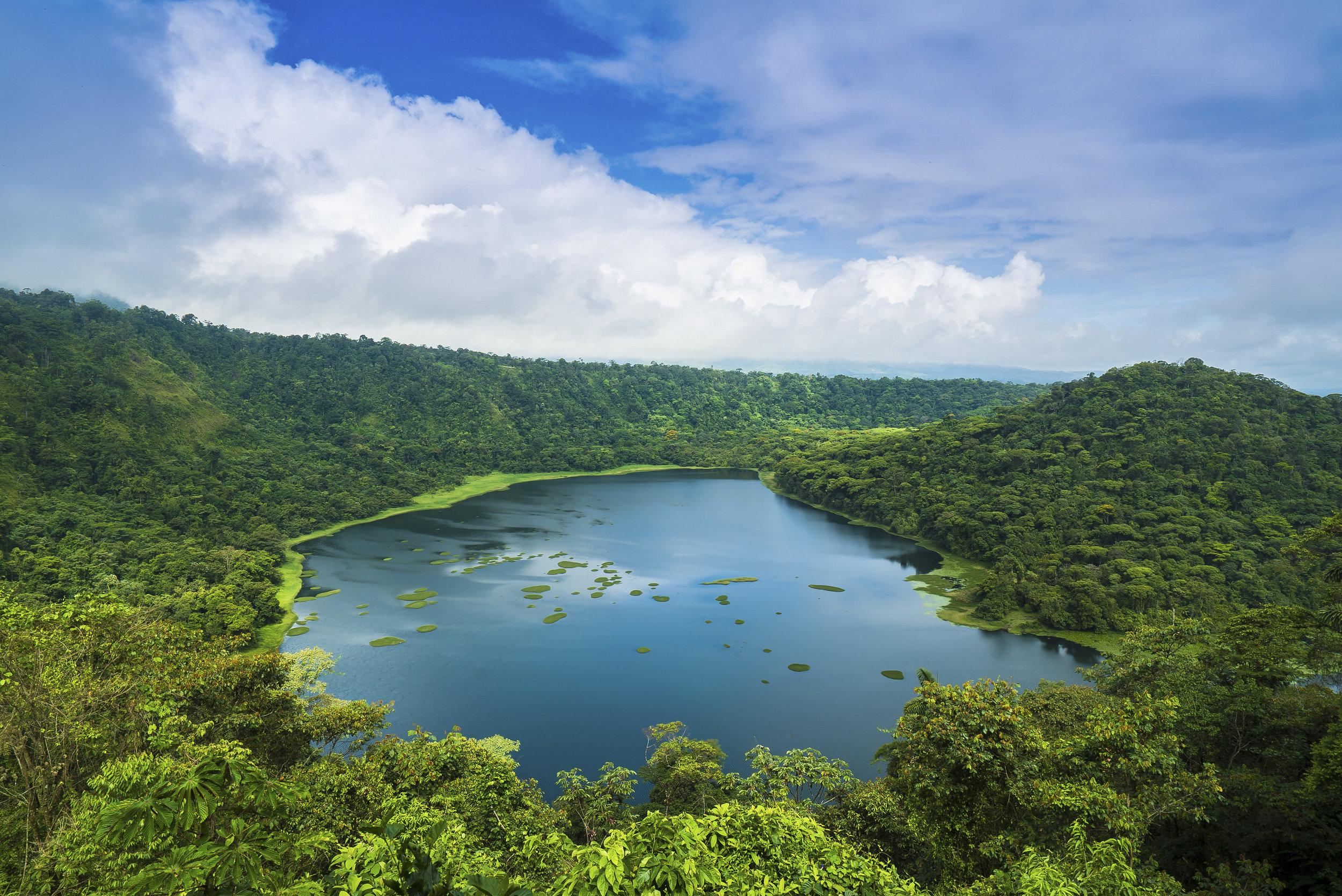 Volcano crater lake, Laguna de Hule - Costa Rica