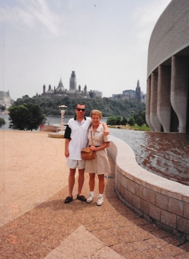 Mom and I at the National Museum Of Canada.