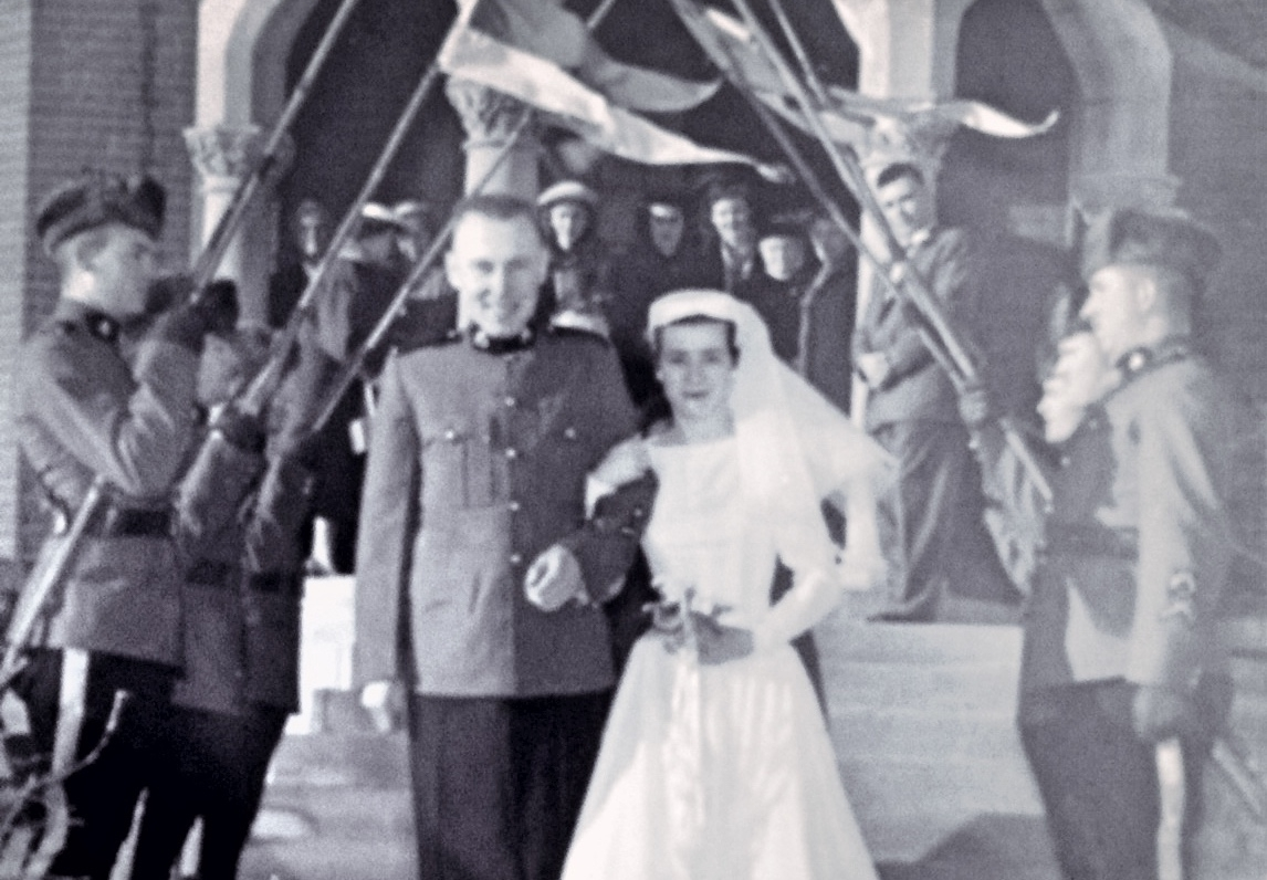 Married in North Battle-ford Saskatchewan in January 1956, My Dad was an RCMP officer and my mother was a nurse at the provincial psychiatric hospital.