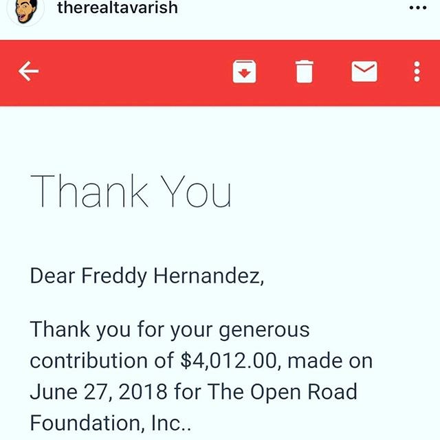 Thanks to @therealtavarish for his generous support this month.  Donation link in bio. #wrencheveryday