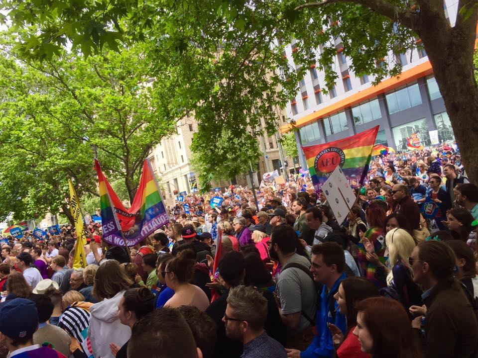 The Pride march