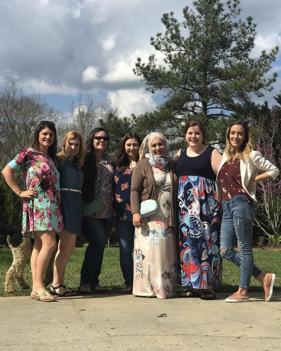 Maryam and her group of friends, all moms of twins, pose for a picture in Dublin, Georgia, where they finally met in person after two years of cultivating an online friendship. Pic Courtesy: Maryam.
