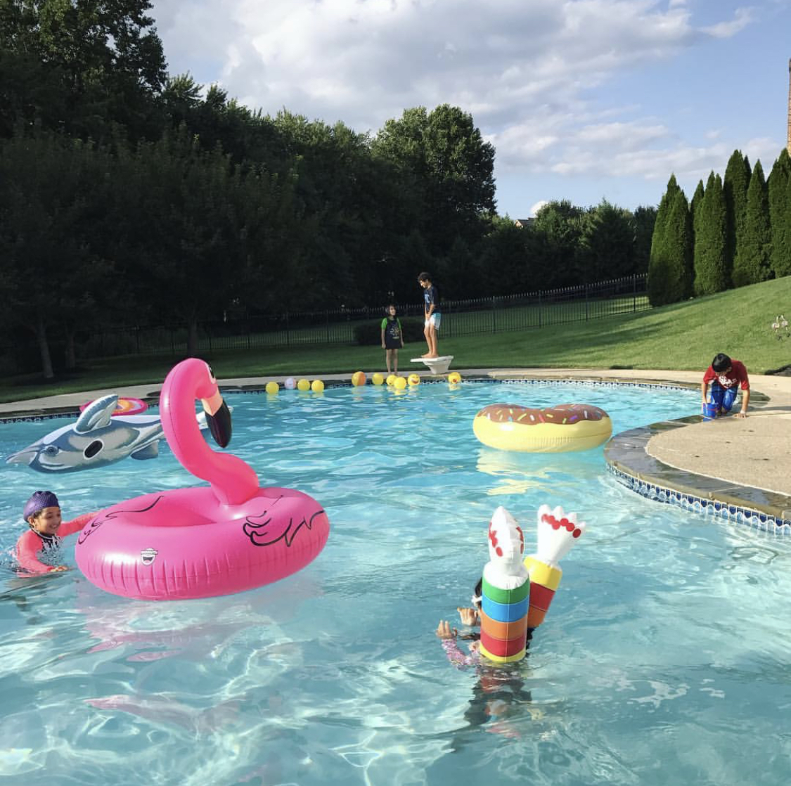 Friends enjoy one more day of summer fun before schools open. Silver Spring, MD. Pic courtesy: Zoshia Minto.