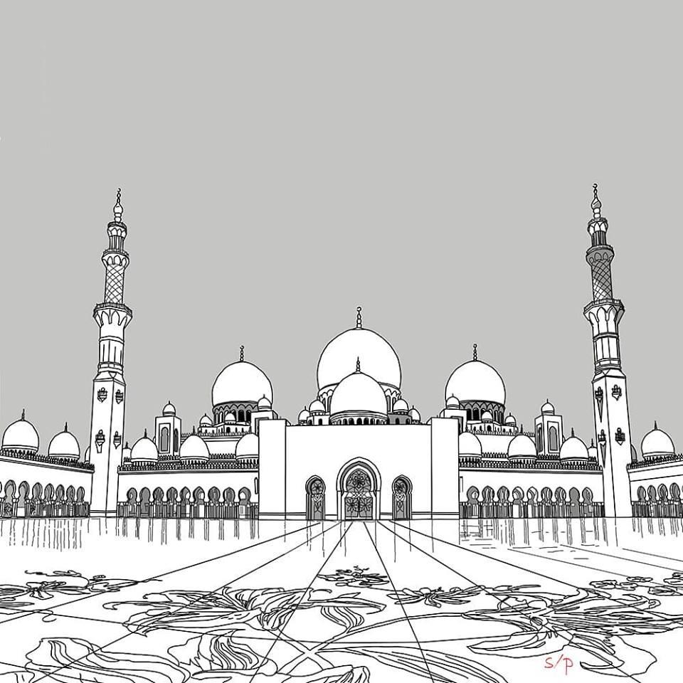 The Sheikh Zayed Grand Mosque, Abu Dhabi, UAE.