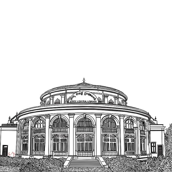 State Central Library, Bangalore, Karnataka, India.