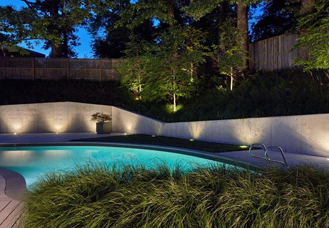 The folding, sloping walls reflect the angles of the midcentury home that opens into this back garden  _________________________________ Architect @kube_arch Photo by @david.burroughs.54 designed by @Jordan_Loch_Crabtree while @campionhrubyla #landscapearchitecture #minimal #minimalist #design #landscape #garden #gardendesign #architecture #nature #design