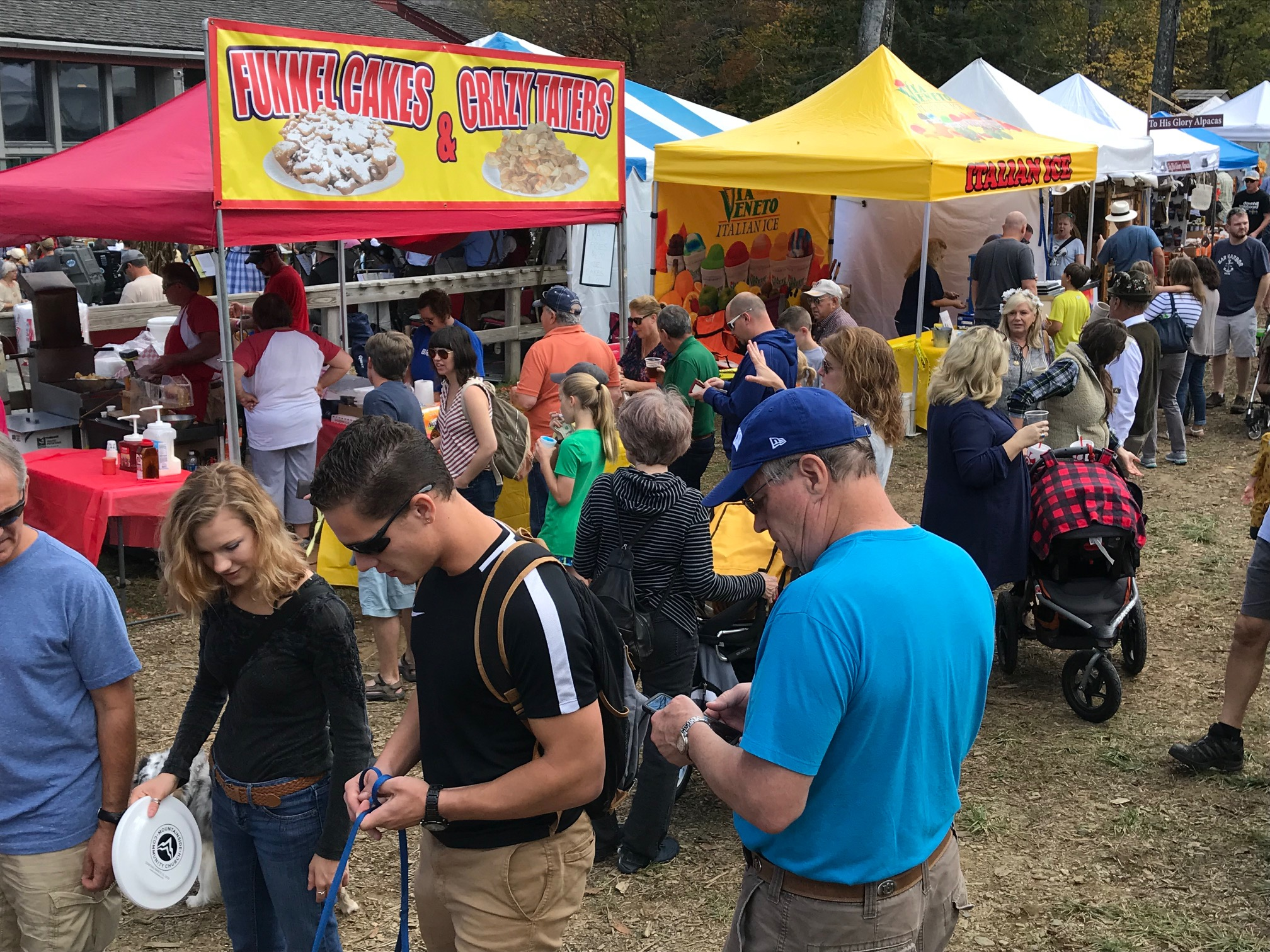 Frisbees were given away at Oktoberfest, New River Fest, Valle Country Fair, and Wooly Worm Festival in two October weekends.