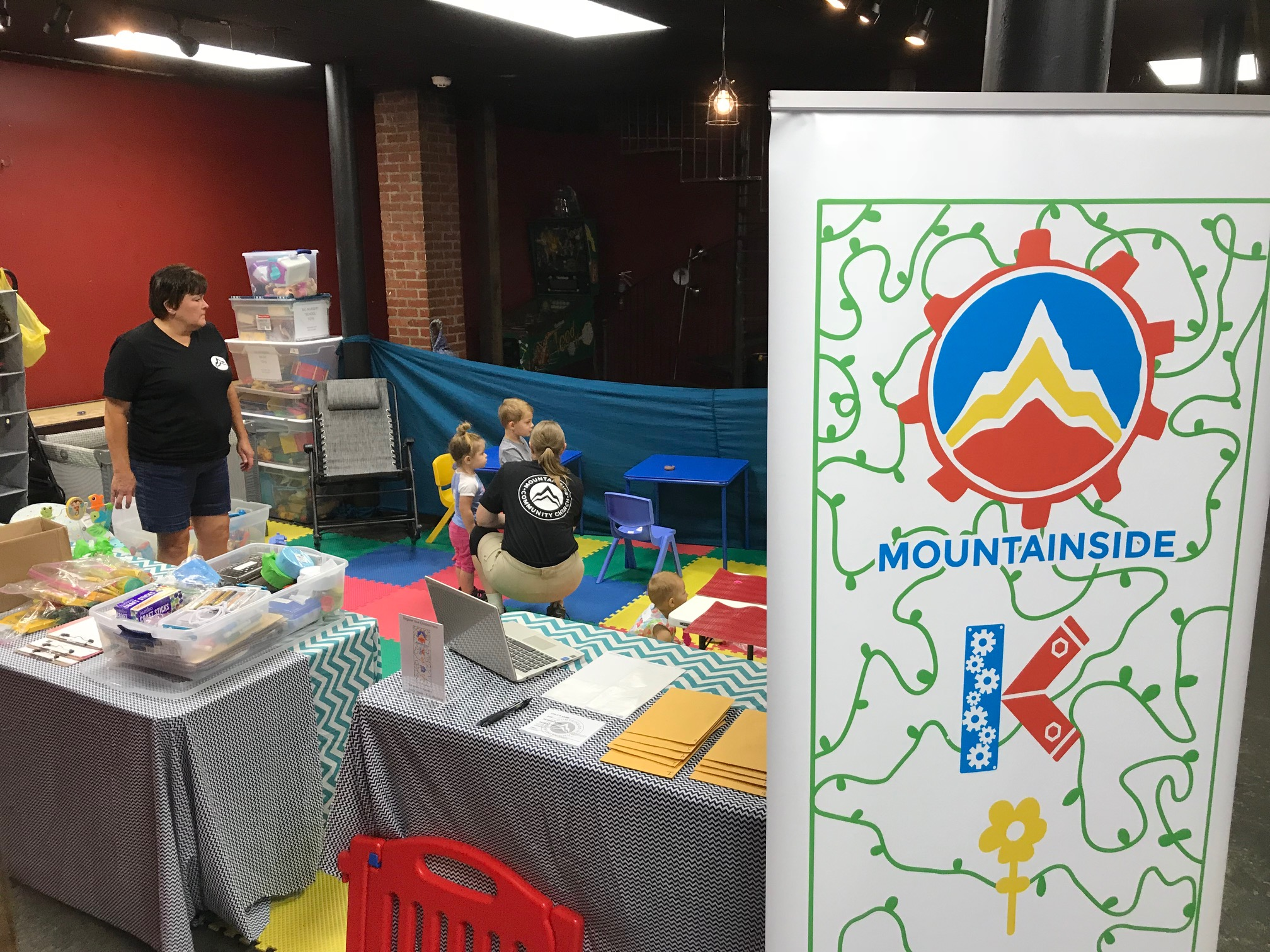 Mountainside Kids area was ready to go on our first Sunday at Galileo's!