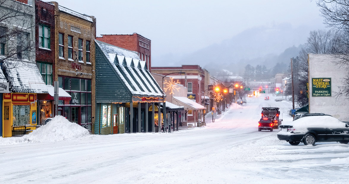Snow is already here and 'Snomageddon'—over a foot is predicted for this Sunday in Boone, NC!