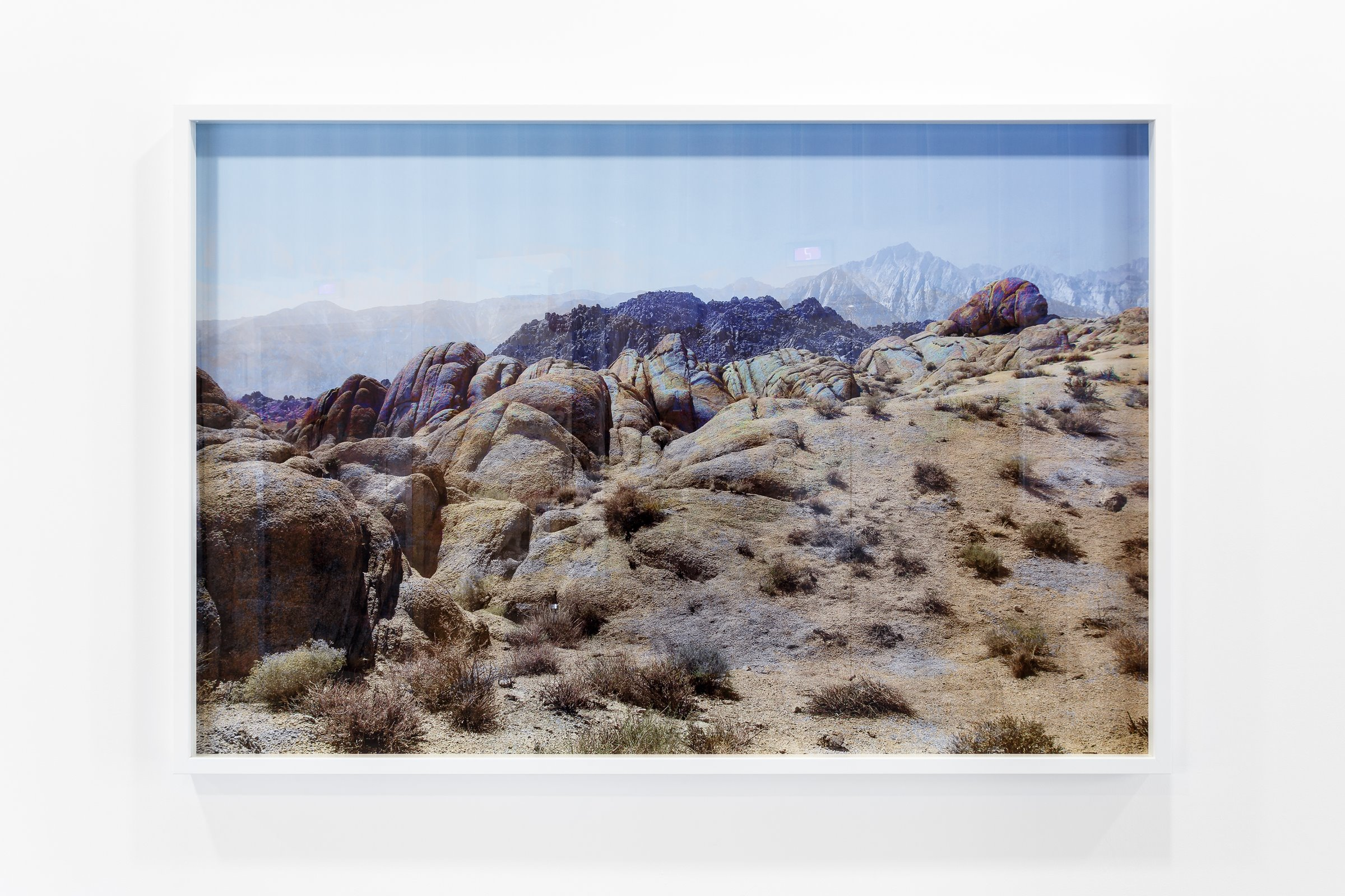 Psychedelic Western #3 (2015) (Installation view)  Psychedelic Western #1 – #14 (2015) Digital photographic series  Framed: Edition: 1/3 101.6cm x 152.4cm  Wall Based: Dimensions Variable  Exhibited at:  Chiara Williams Contemporary Art, London Art Fair 17th to 22nd January, 2017.  HOME, Manchester, 27th January – 2nd April 2017.  Airspace Gallery 5th May to 3rd June, 2017.