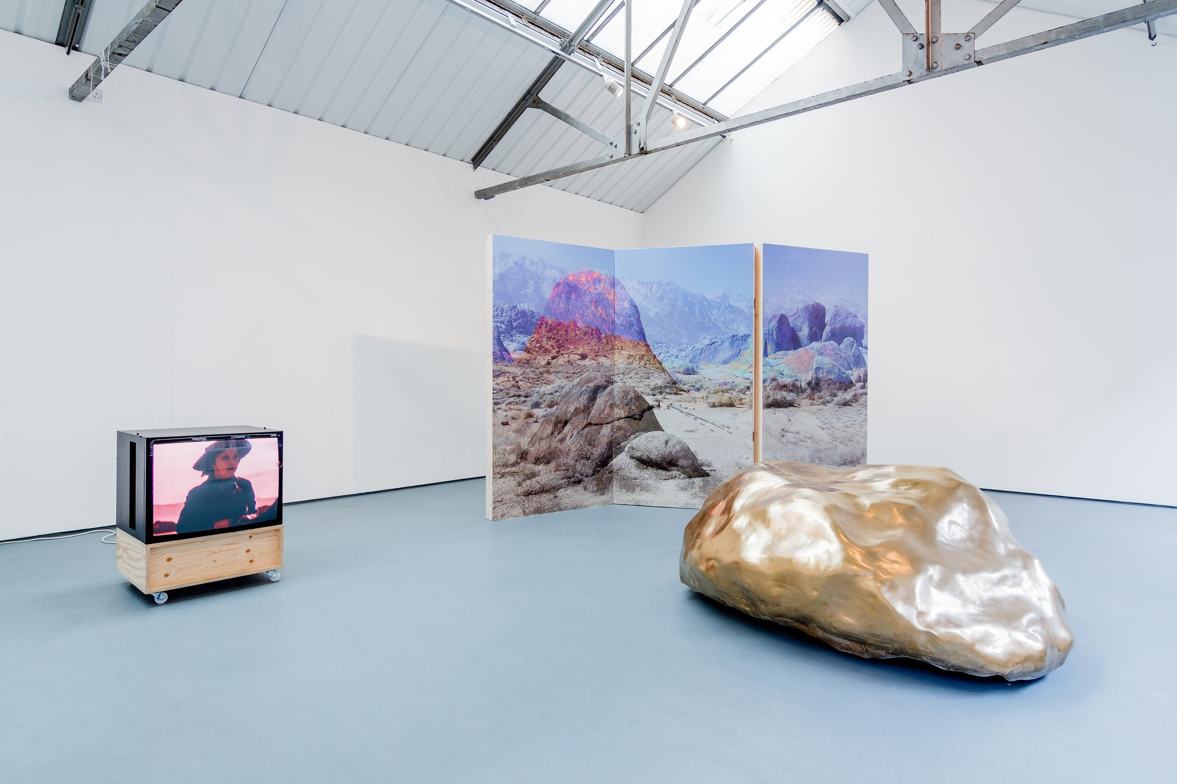 Women on Horses (2015) (Installation View)  Video Installation Edition: 1/3 10:00 looped video