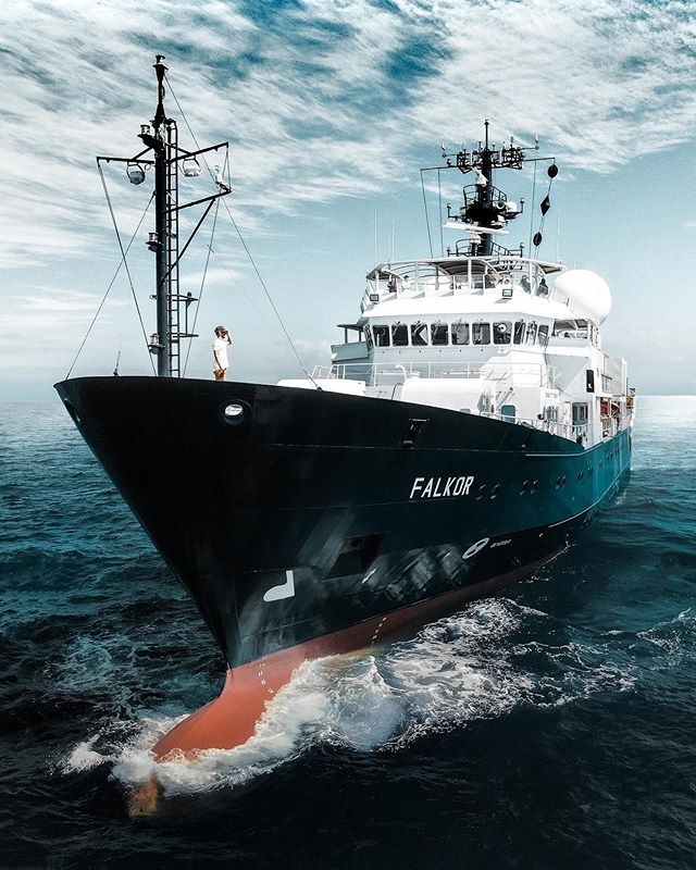 I need the sea because it teaches me - Hope everyone's had a cruisey weekend! @sheltondupreez on assignment for @schmidtocean onboard r/v Falkor . . @usgs @woodshole_ocean @uradmissions @britgeosurvey . #science #expedition #onassignment #dronepilots #droneu #droneporn #dronefly #droneoftheday #droneofficial #dronenerds #drone_id #droneheroes #dronepics #dronedaily #dronehub #uav #uavphotography #uavpilot #aerialsilks #arialphotography #aerialview #aerialshot  #yacht #yachting