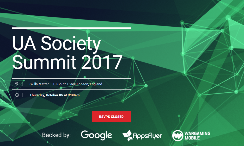UA Society - UA Society, a not-for-profit organisation that seeks to bring together top professionals from the mobile user acquisition industry, needed website content to entice UA specialists to register for their 2017 summit. I provided concise, engaging copy that demonstrates the value of attending the conference.