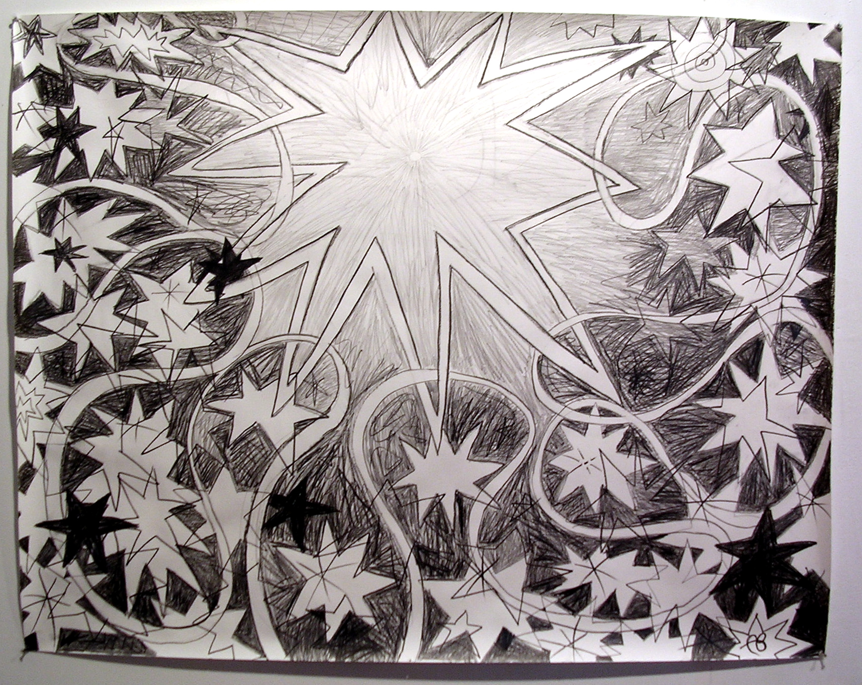 Starburst graphite on paper