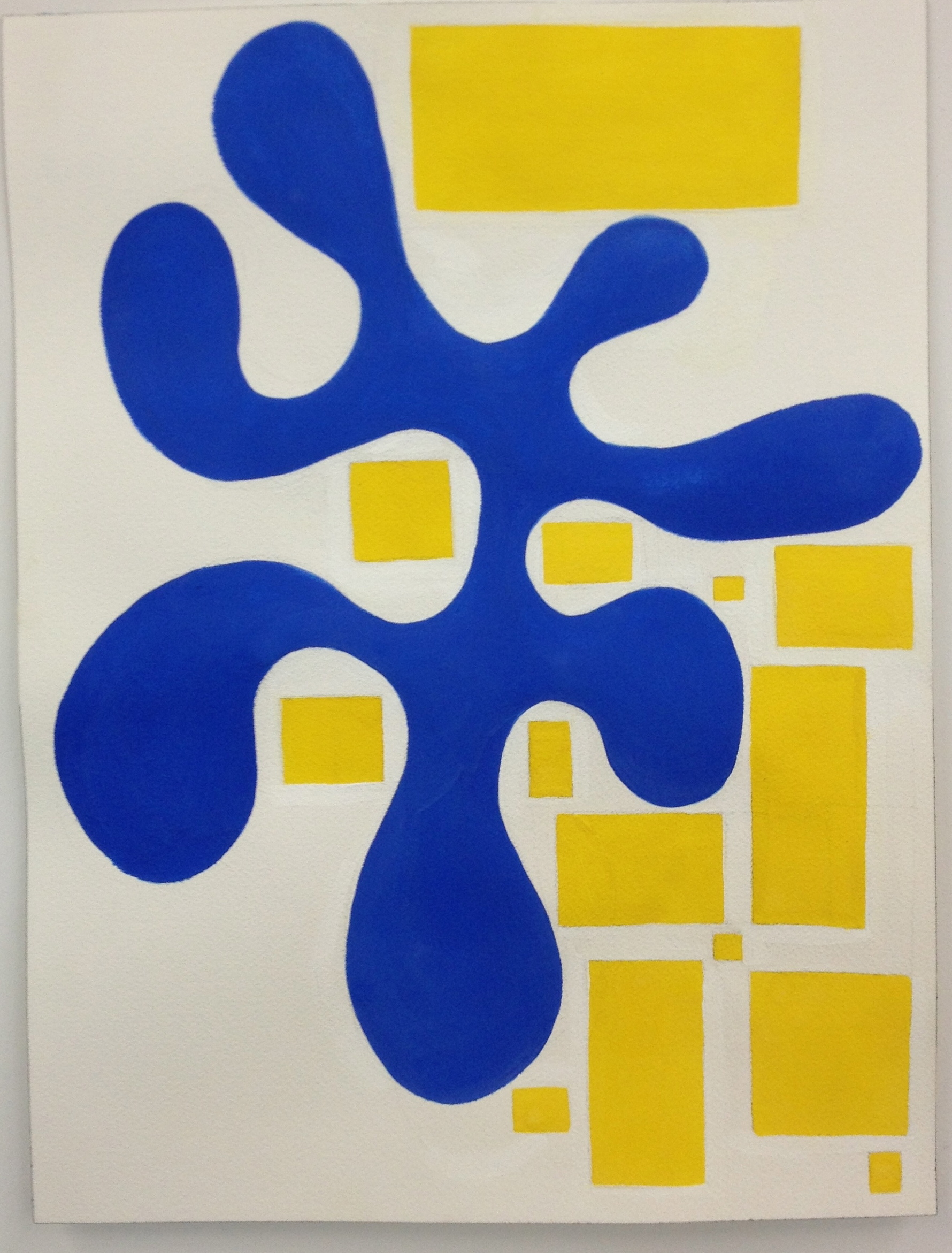 Blue And Yellow gouache
