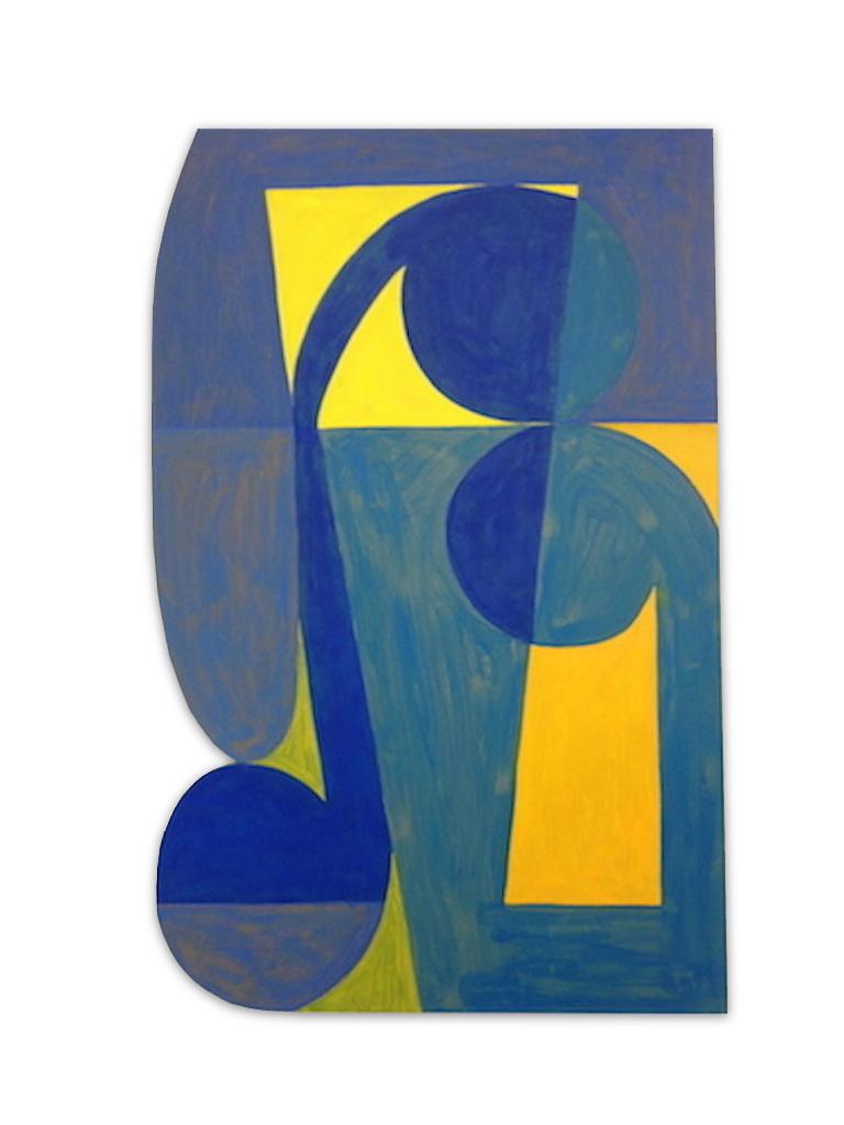 "Fortinbras,  2014, acrylic on shaped MDF, 48"" x 36"""