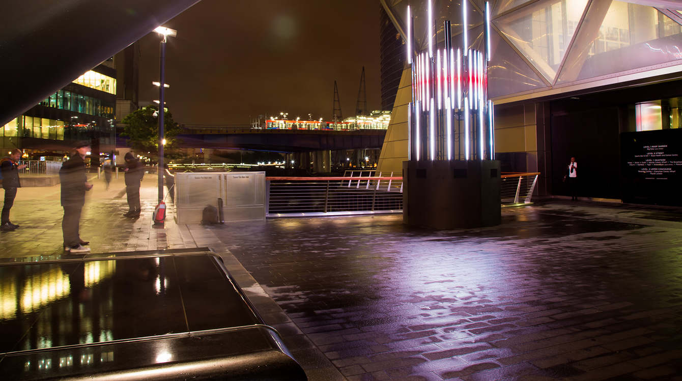 Projection Mapping Canary Wharf London 3D Motion graphics and sculpture design