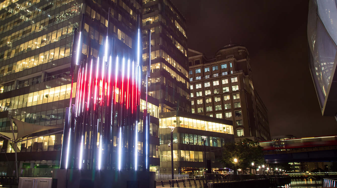 Projection mapping 2D motion graphics concept sculpture design in London
