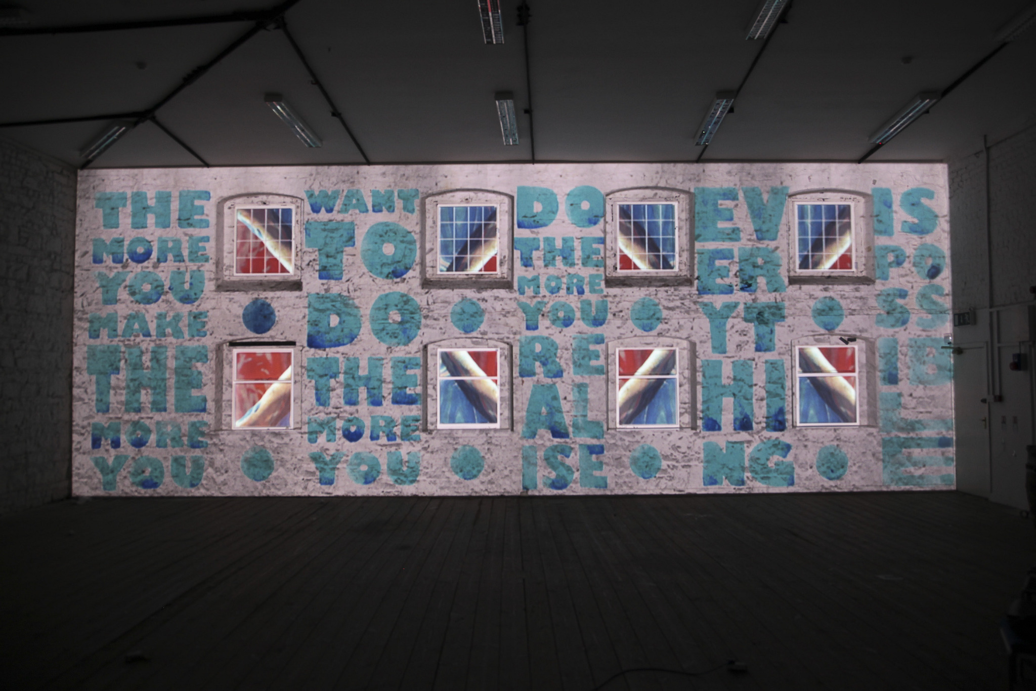 2D and 3D motion graphics and projection mapping to create an original piece of work