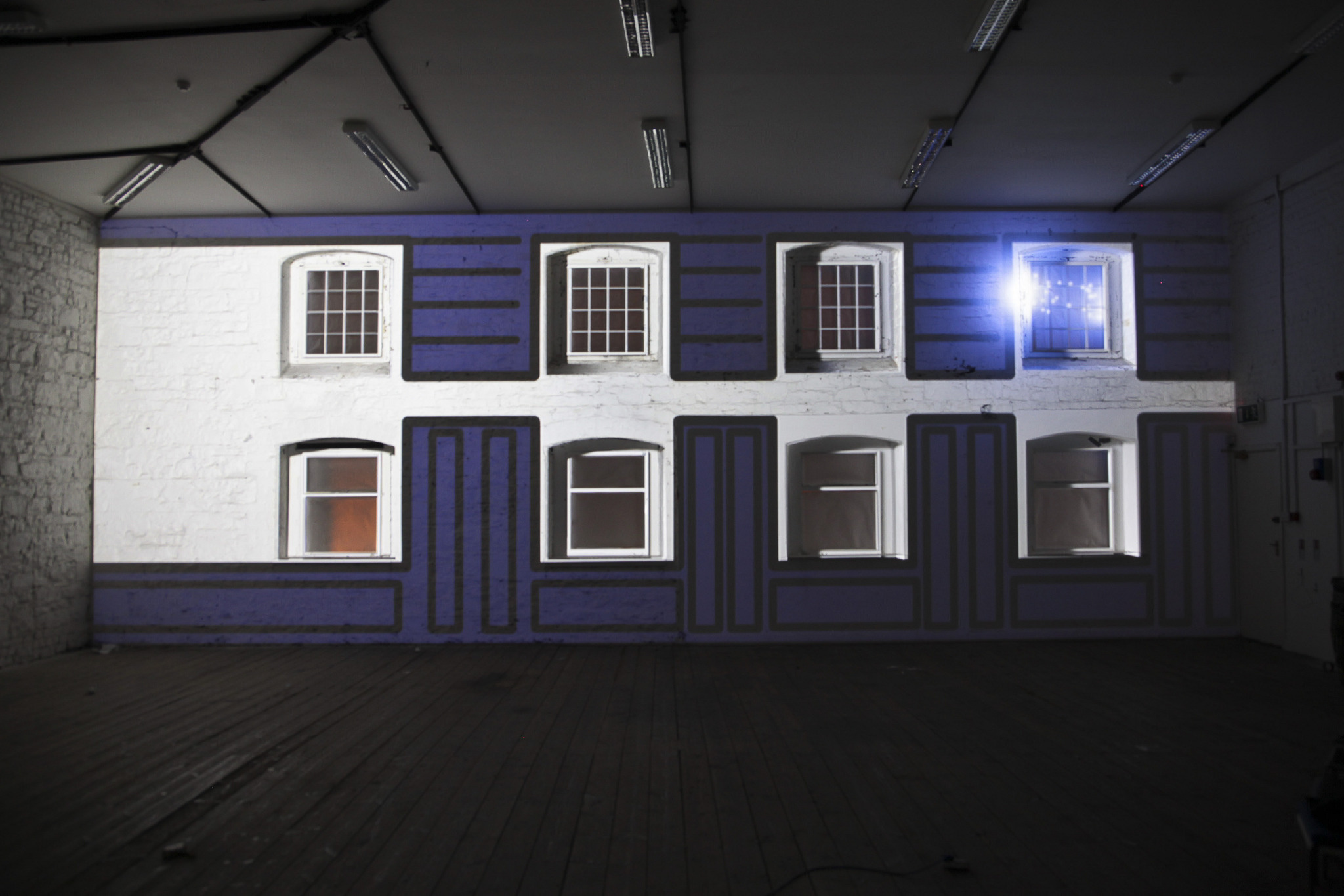 Using projection mapping music and 2D and 3D Motion graphics in Dublin Ireland
