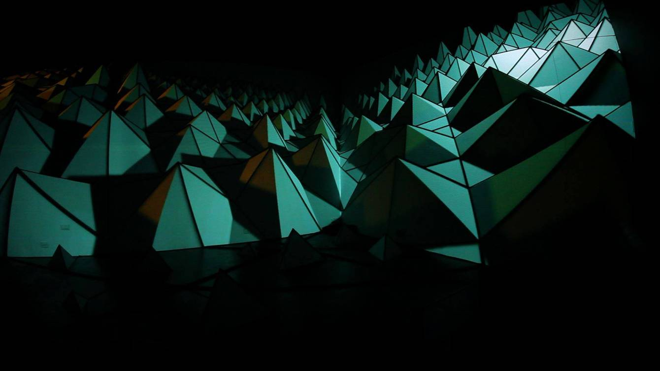 Gawlway Arts Festival projection mapping and light installation using experimental PixelPusher technology with processing