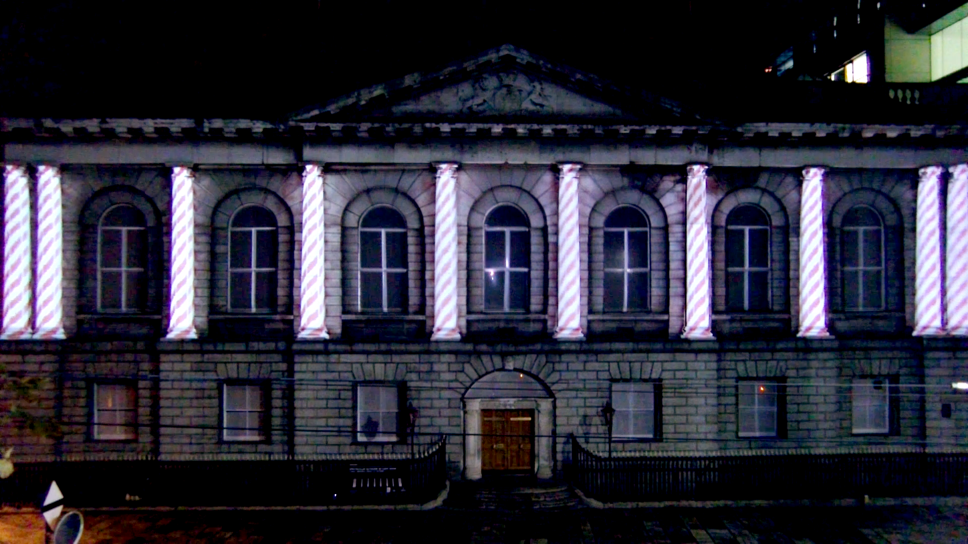 Music venue launch in Dublin projection mapping 2D and 3D animation