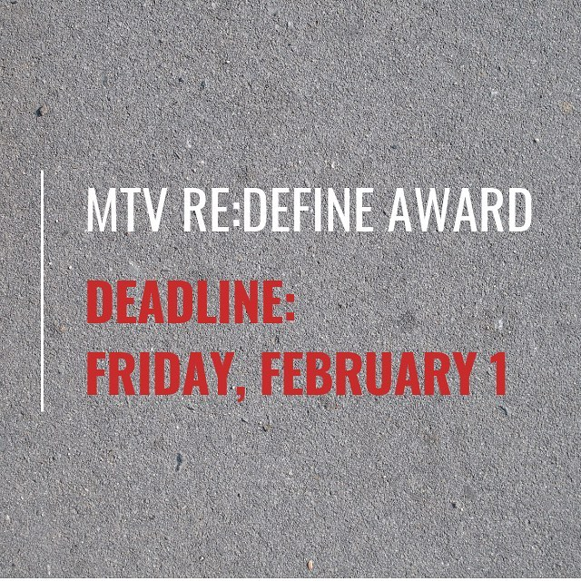 REPOST from our friends @gossmichaelfoundation - we are so excited to partner on this Award! . Deadline for MTV RE:DEFINE Award submissions is this Friday! Applications are flooding our inbox - we could not be more excited to honor and support a talented emerging graduate student artist with $15k and exhibition opportunities. Get those materials in by Friday! #mtvredefineaward #mtvredefine #emergingartists