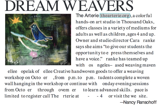 805 Living   Weaving Workshop at The Arterie with Kellee Creative.