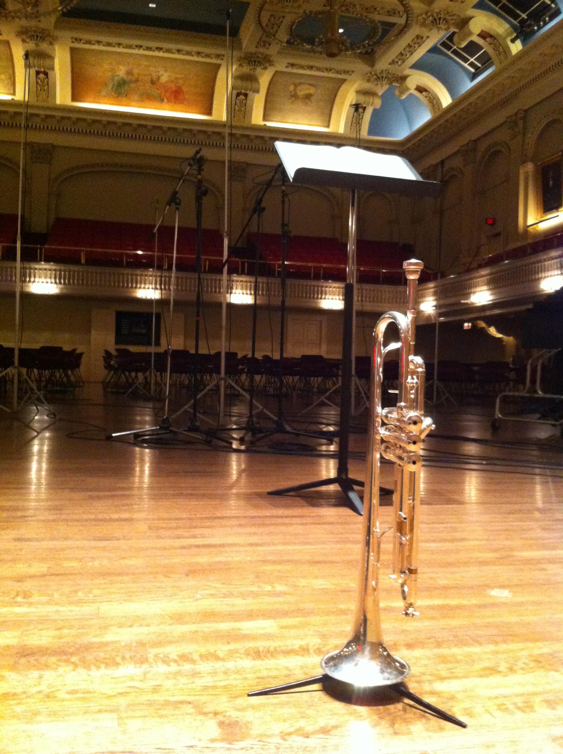 Ready to begin recording… Photo credit: Craig Morris
