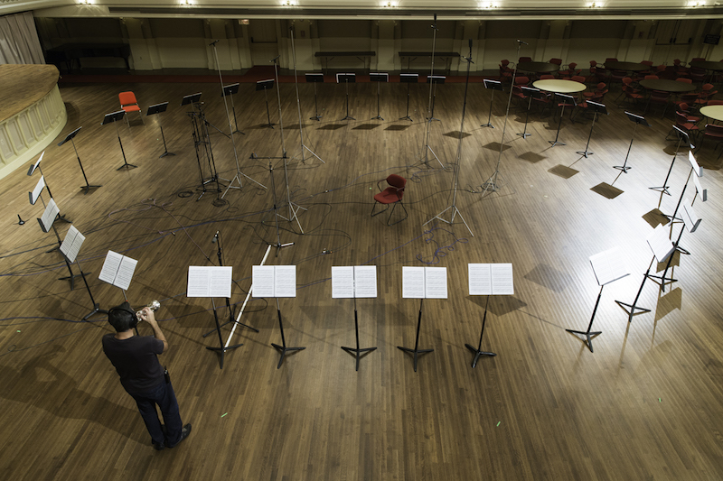 Recording  Piece in the Shape of a Square.  Photo Credit: Michael Lutch