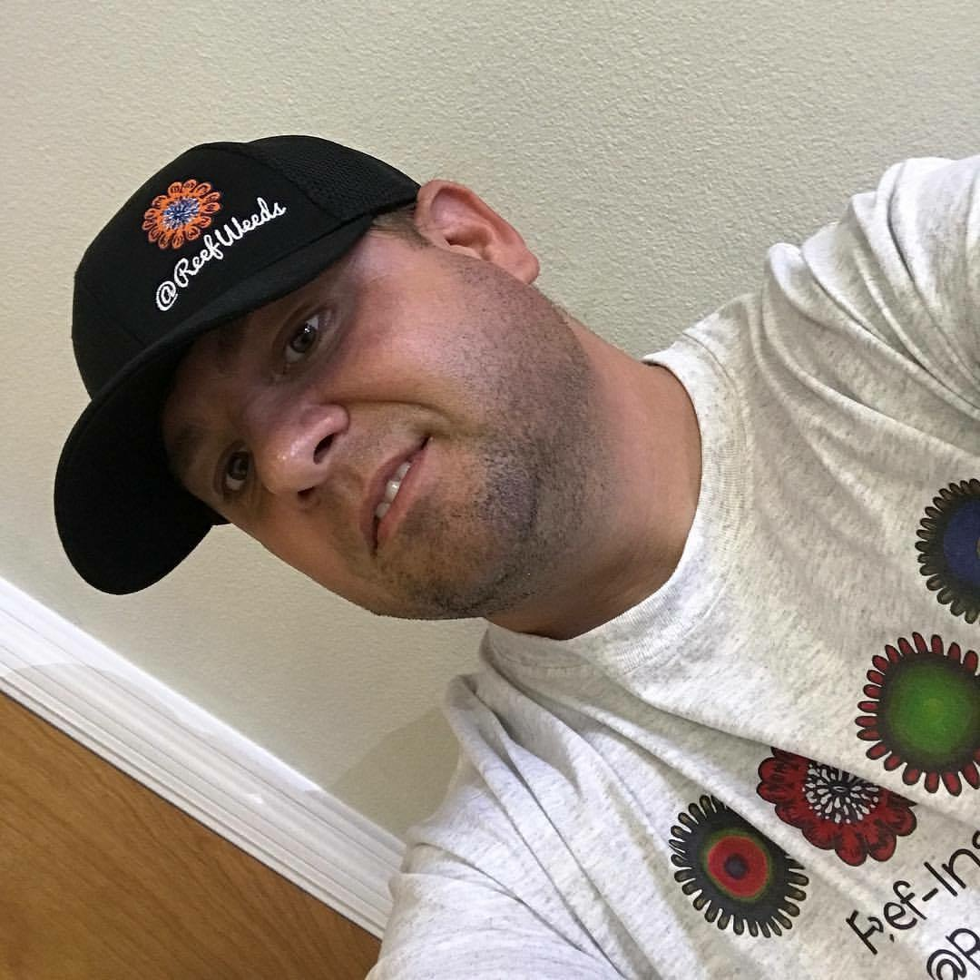 Lou sporting his ReefWeeds hat and t-shirt. #branding