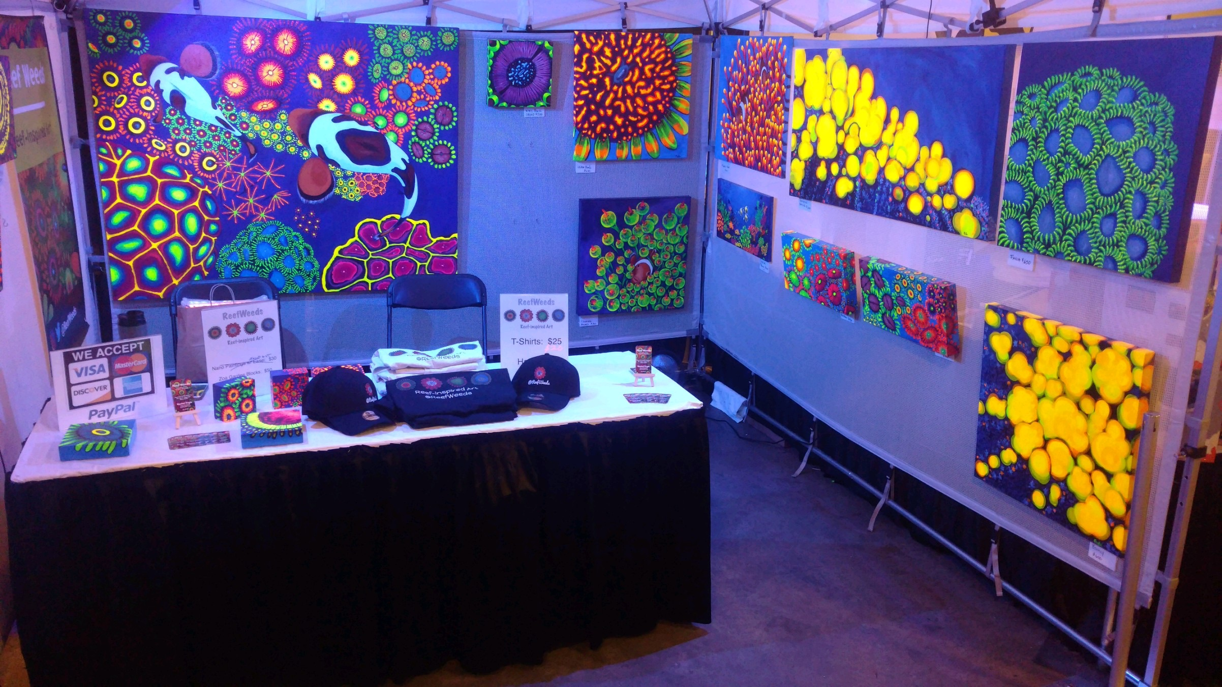 The ReefWeeds booth at Reef-A-Palooza New York