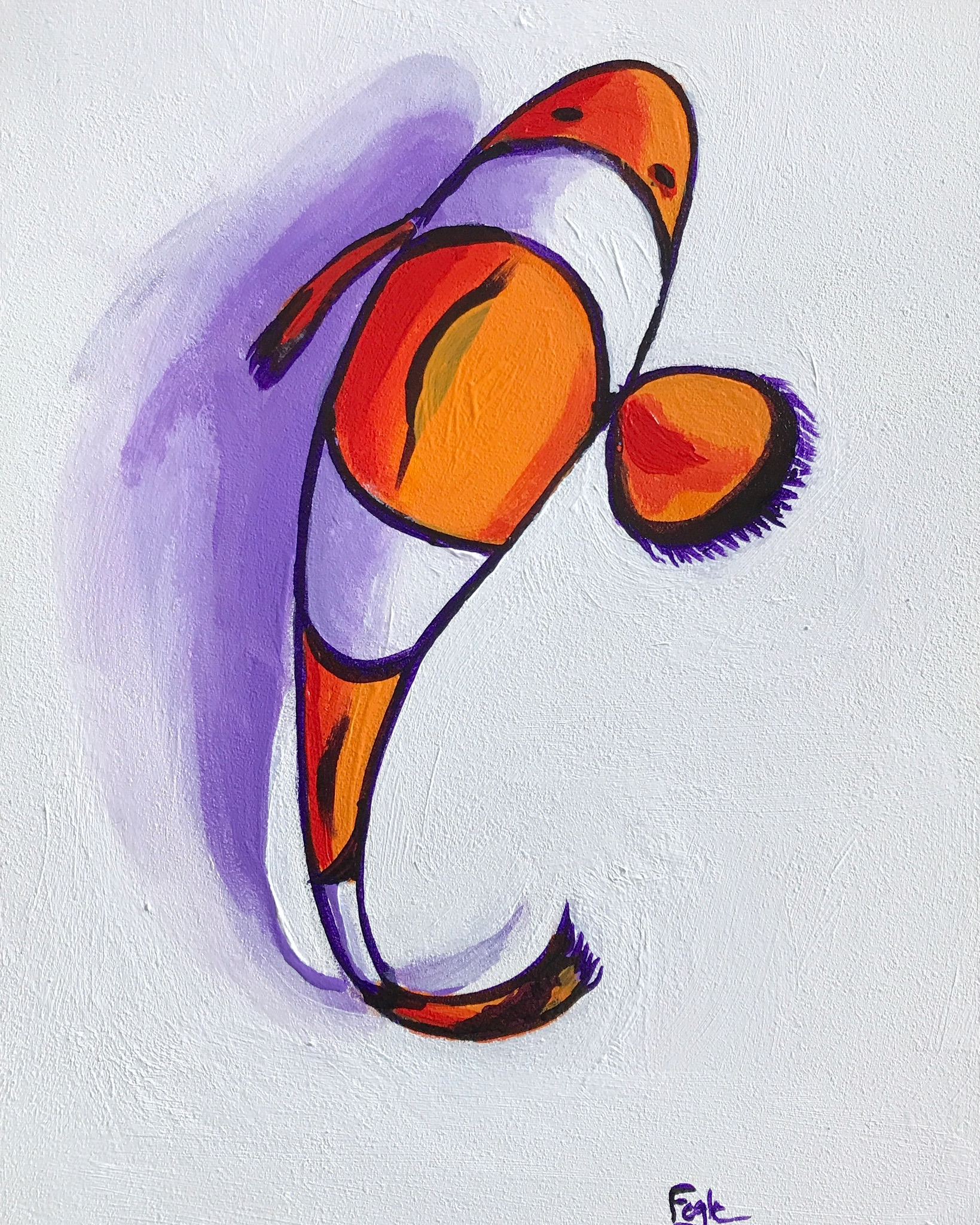 Clownfish painting - SOLD